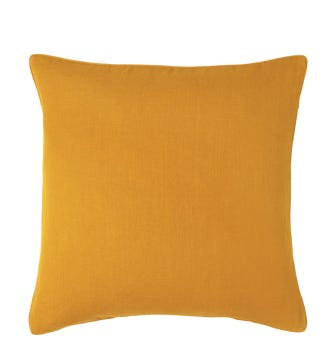 Linen Cushion Cover, Large - Ochre