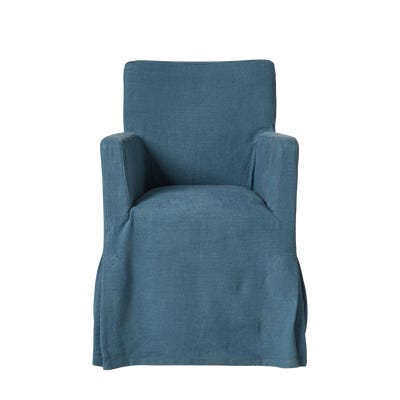 Loose Cover For Atherton Dining Chair - Cerulean