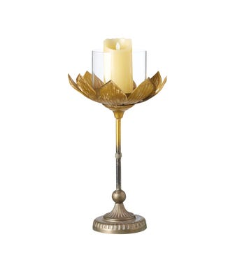 Lotus Candle Holder Large - Gold