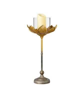 Lotus Candle Holder Medium - Gold
