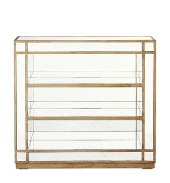 Low Versailles Mirrored Shelves With Hand-Foxing - Antique Bronze