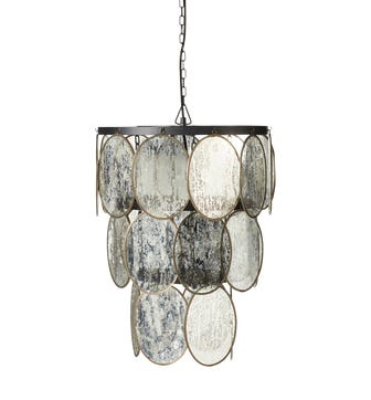Luminosia Hanging Disc Lamp - Antiqued Mirror