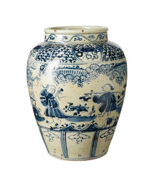Lvliang Jar - White/Blue