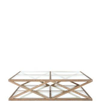 Marylebone Solid Oak Coffee Table, Large - Weathered Oak