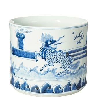 Medium Daqing Porcelain Planter - Blue/White