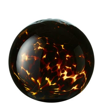 Medium Glass Tortoiseshell Decorative Ball - Multi