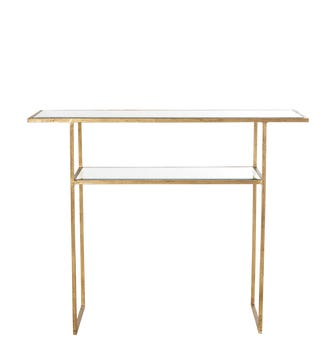 Merle Console Table - Antiqued Glass