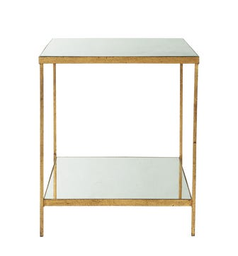 Merle Side Table - Antiqued Glass