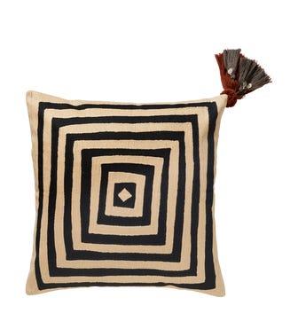 Mesmer Cushion Cover, Large - Black/Cream