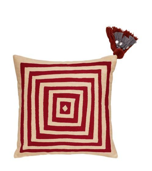 Mesmer Pillow Cover - Crimson