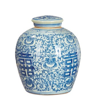 Minxian Porcelain Jar - Blue