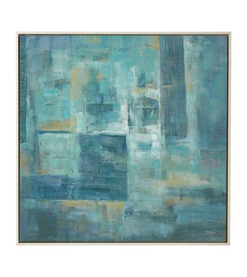 Modern Impasto Landscape Oil Painting - Seagreen