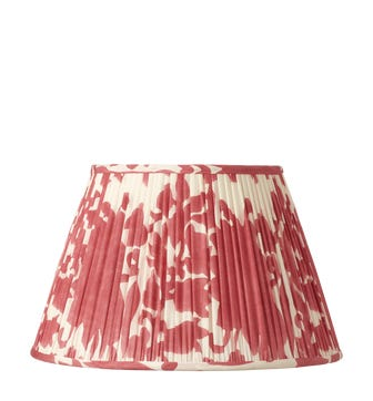 Montjoi Pleated Cotton Lampshade & Carrier 35cm - Red