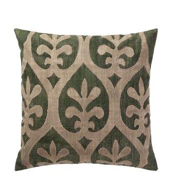 Morosini Cushion Cover (56cmSq) - Green/Natural