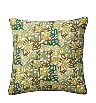 Mosaic Cushion Cover( 51cmSq) - Green