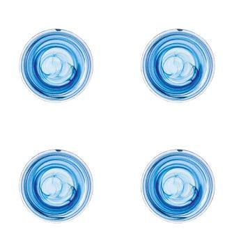 Mosken Glass Dinner Plate Set of 4 - Blue