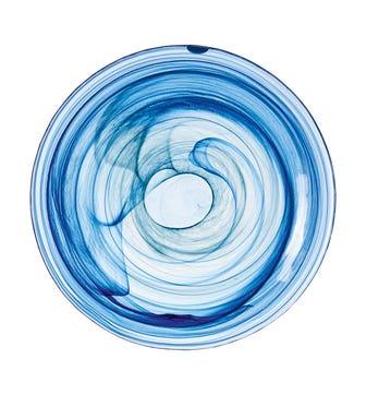 Mosken Glass Plate Large - Blue
