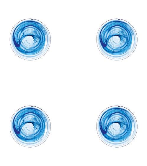 Mosken Glass Side Plate Set of 4 - Blue