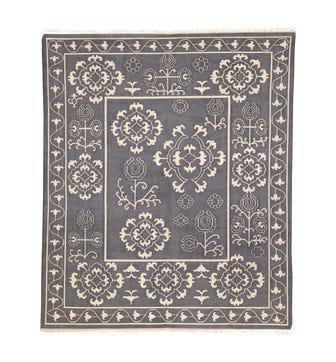 Mysore Stonewashed Cotton Rug - Blue