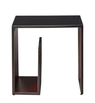 Nalzen Side Table - Rubbed Black