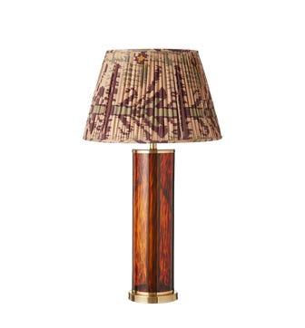 Narrow Tortoiseshell Column Lamp - Multi