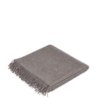 Nazca Wool Throw - Granite