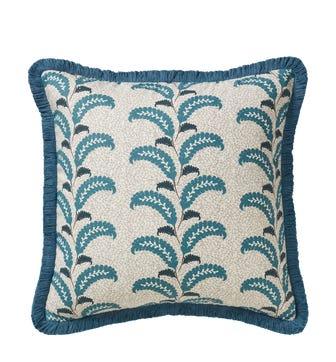 Nerissa Cushion Cover - Venetian Blue/Brown