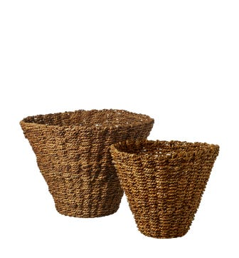 Nested Anguilla Woven Baskets - Natural