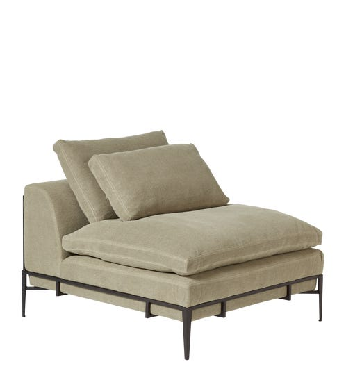 Norga Armless Chair - Taupe Linen