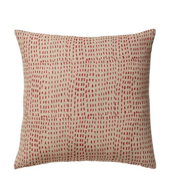 Nostell Dashes Cushion Cover - Red Madder