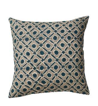 Nostell Diamonds Cushion Cover - Indigo