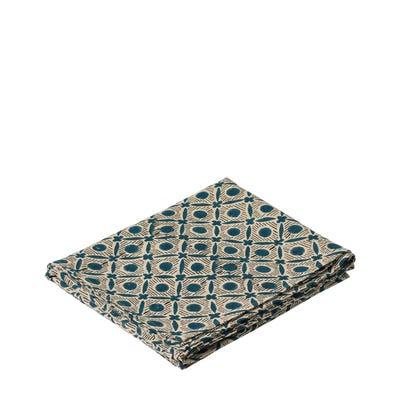 Nostell Diamonds Tablecloth - Indigo