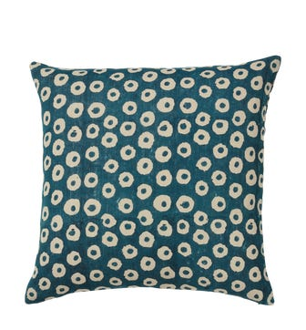 Nostell Dots Cushion Cover - Indigo