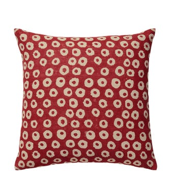 Nostell Dots Cushion Cover - Red Madder