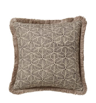 Nostell Leaves Cushion Cover - Charcoal