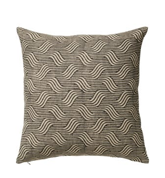 Nostell Waves Cushion Cover - Charcoal