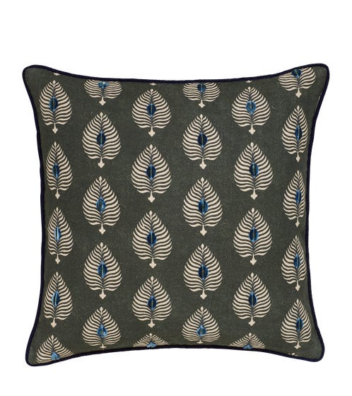 Ocellus Pillow Cover - Midnight Green