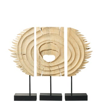 Olabe Decorative Panels on Stand Set of 3 - Natural