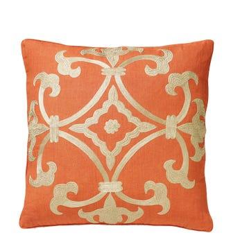 Ophelia Linen Pillow Cover - Apricot