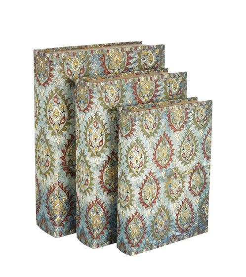 Ottoman Box Files, Set of 3 - Blue