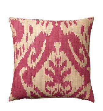 Palau Silk Cushion Cover, Large - Red