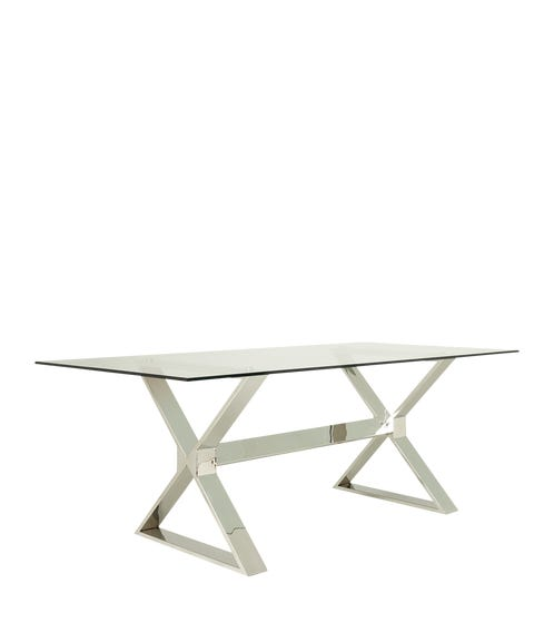 Park Dining Table - Metal/Glass