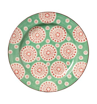 Pasha Plate - Red/Green