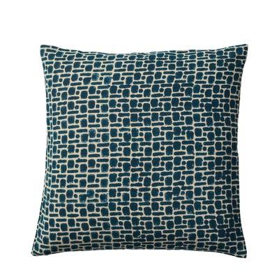 Pattani Dots & Dashes Cushion Cover(51cmSq) - Indigo