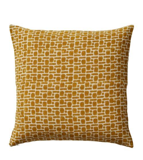 Pattani Dots & Dashes Cushion Cover(51cmSq) - Mustard
