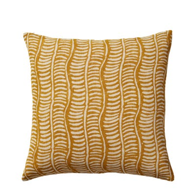 Pattani Eclipse Cushion Cover(51cmSq) - Mustard