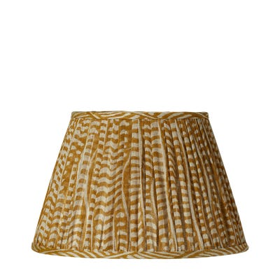 Pattani Eclipse Lampshade & Carrier (45) - Mustard