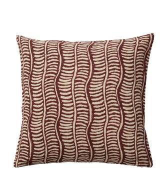 Pattani Eclipse Pillow Cover(51cmSq) - Cabernet Red