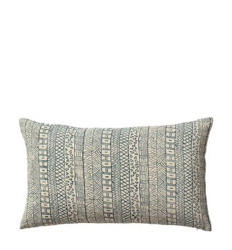 Pattani Geometric Cushion Cover(60x35cm) - Indigo