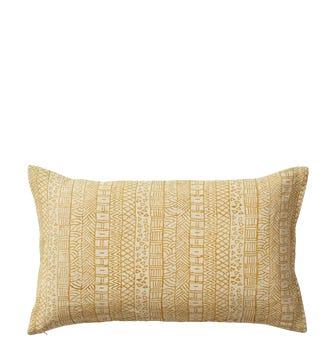 Pattani Geometric Cushion Cover(60x35cm) - Mustard